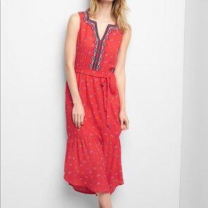 GAP Midi Tier Embroidered Dress